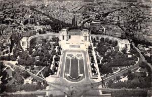 Paris France Le Palais de Chaillot vu de la Tour Eiffel Paris Le Palais de Ch...