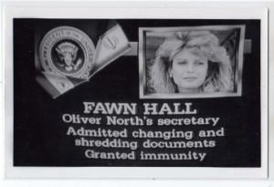 RPPC, Fawn Hall - Oliver Noth's Secretary