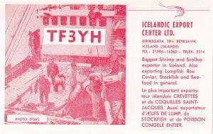 Reykjavik Iceland Export Centre QSL Radio 1970s Rare Card