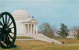 Vicksburg MS~Eagle on Illinois Monument Portico~Cannon Wheel~Military Park~1950