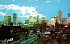 Michigan Detroit Skyline From West Fort Street