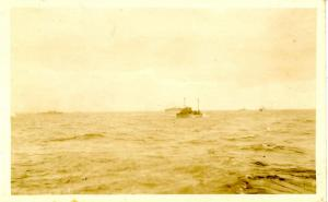 USS Tarbell, October 1919. Aboard, Serving with the Pacific Fleet  - RPPC