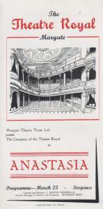 Anastasia Marcelle Maurette Rare Theatre Royal Margate Kent Programme