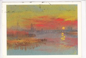 J M W, TURNER, Tours, Sunset, Tate Gallery, used Postcard