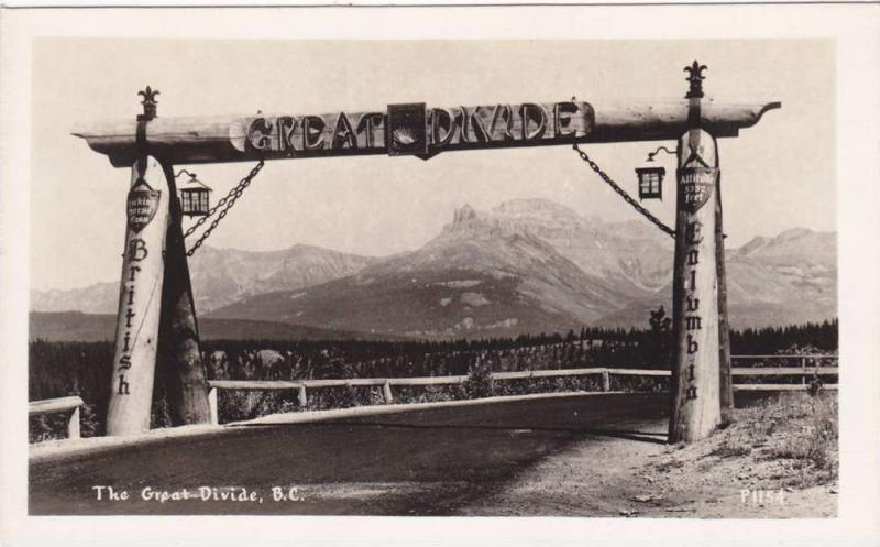 RP, The Great Divide, British Columbia, Canada, 1920-1940s