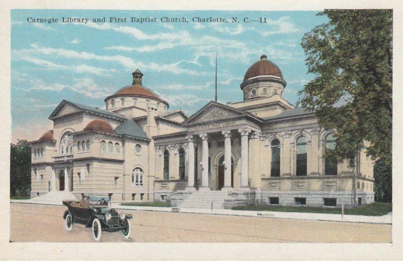 CHARLOTTE , North Carolina , 1910s ; Carnegie Library