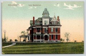 Maquoketa IA~Dr Louis B Carson's Iowa Sanatorium~Victorian Hospital~1908 PCK