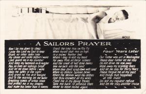 Military A Sailors Prayer With Sleeping Sailor 1942 Real Photo