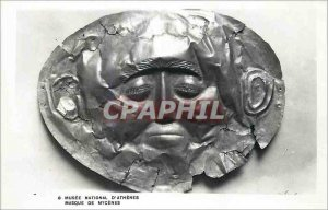 Modern Postcard National Museum of Athens Mask Mycenae