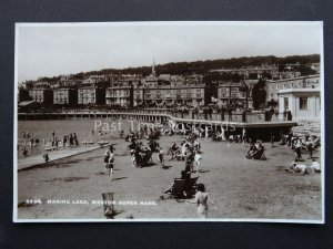 Somerset WESTON SUPER MARE Marine Lake - Old RP Postcard by E A Sweetman