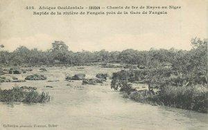 Sudan chemin de fer de Kayes au Niger rapide de la riviere de Fangala