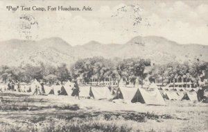 FORT HUACHUCA , Arizona , 1913 ; Pup Tent Camp