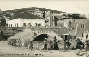 NAZARETH PALESTINE VIRGIN'S FOUNTAIN ISRAEL ANTIQUE REAL PHOTO POSTCARD RPPC