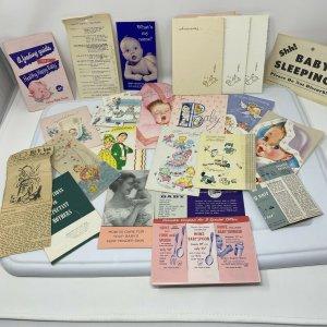 New Mother Hospital Baby Packet Promo Marketing Memorabilia 50s Ephemera Lot 27