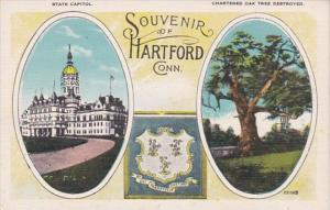 Connecticut Hartford State Capitol & Chartered Oak Tree Destroyed