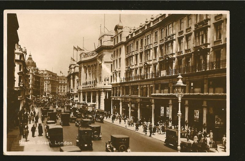 UK Postmarked 1934 London WO Regent Street London Photo Postcard