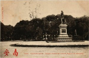 CPA AK INDOCHINA Saigon Statue de l'Amiral Rigault VIETNAM (956614)