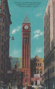 TORONTO , Ontario, Canada, 1950-60s ; Bay Street , City Hall