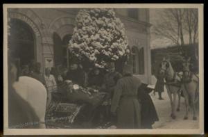 Austria WWI 1917 Kaiser Karl I Wife Zita in Innsbruck RPPC 91427