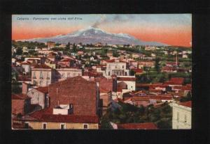 053416 ITALY Catania Panorama con vista dell Etna Vintage PC