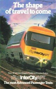 Postcard 1981 Intercity APT, The shape of travel to come British Rail KE5