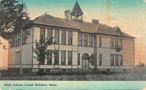 High School, Grand Meadow, Minnesota 1913 Vintage Postcard