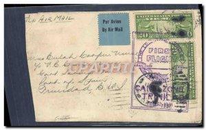 Letter USA 1st Flight to Trinidad USA February 12, 1931
