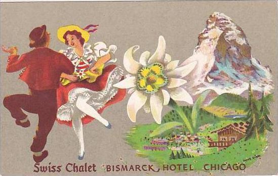 Illinois Chicago Bismarck Hotel Swiss Chalet Restaurant
