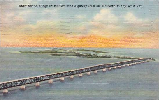 Bahia Honda Bridge on the Overseas Highway from the Mainland to Key West, Flo...