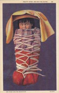 Pretty Eyes Be-Nah Na-Zuhn Navajo Indian Baby Curteich