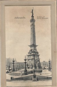 INDIANAPOLIS, Indiana, 1908 ; Solder's Monument ; Pop-Out views