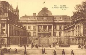 France Paris Le Palais de Justice Palace Front View