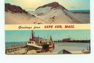 Buy Postcard Dunes Fishing Cape Cod Massachusetts