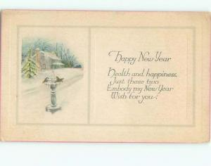 Divided-Back NEW YEAR SCENE Great Postcard AA2004