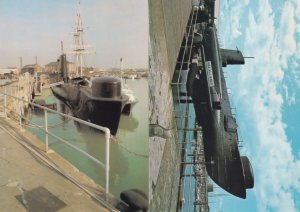 HMS Alliance at Fort Blockhouse & Hampshire Military Ship 2x Postcard s