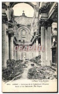 Old Postcard Arras Interior of the Cathedral Organ Army