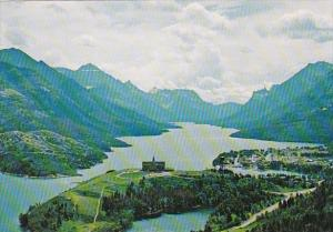 Canada Alberta Waterton Lakes National Park Aerial View