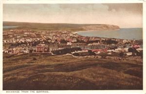 Swanage from The Quarries General view Panorama