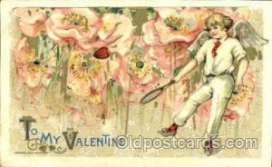 Artist Signed Schmucker, John Winsch 1910, To My Valentine writing on back ve...