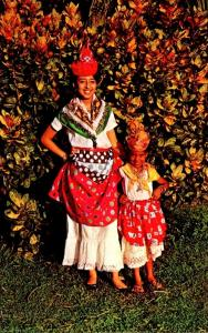Dominica Locals Wearing Traditional Costume