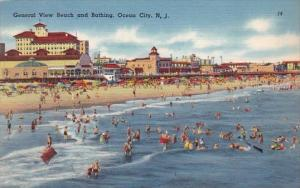 New Jersey Ocean City General View Beach And Bathing