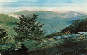 Postcard Scene from Crescent Rock and Skyline Drive Virginia