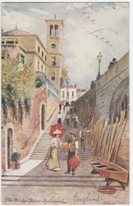uk The Bridge Stairs Richmond 1905 United Kingdom England Tuck Postcard