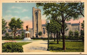 Maryland Frederick Memorial Park and Calvary Methodist Episcopal Church