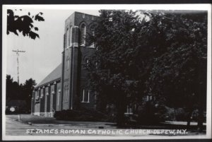 New York DEPEW St. James Roman Catholic Church - RPPC by KODAK