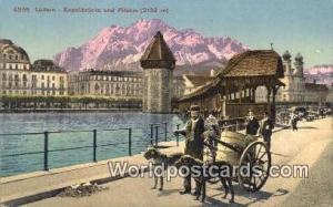 Luzern Swizerland, Schweiz, Svizzera, Suisse Kapellbrucke und Pilatus  Kapell...