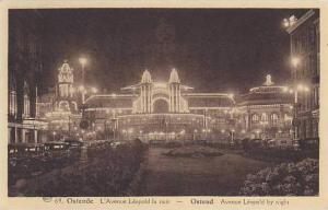 Netherlands Ostende L'Avenue Leopold La Nuit