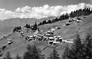 Switzerland Chandolln Anniviers General view Kapelle Panorama Mountains