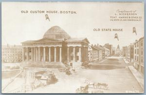 BOSTON MA VINTAGE PHOTOMONTAGE REAL PHOTO ADVERTISING POSTCARD RPPC