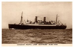 S.S. Montrose , Canadian Pacific Liner